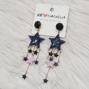 H&m Coachella star earrings
